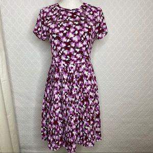 Banana Republic Floral Pleated Dress size 4 Petite